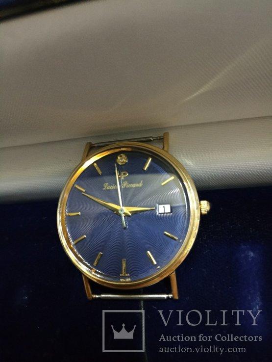 Швейцарские золотые часы Lucien piccard с бриллиантом, фото №2