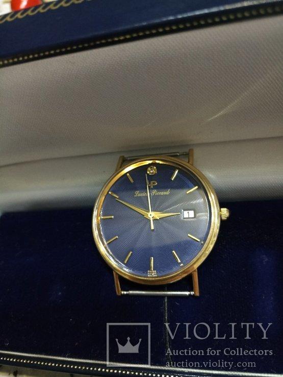 Швейцарские золотые часы Lucien piccard с бриллиантом, фото №7