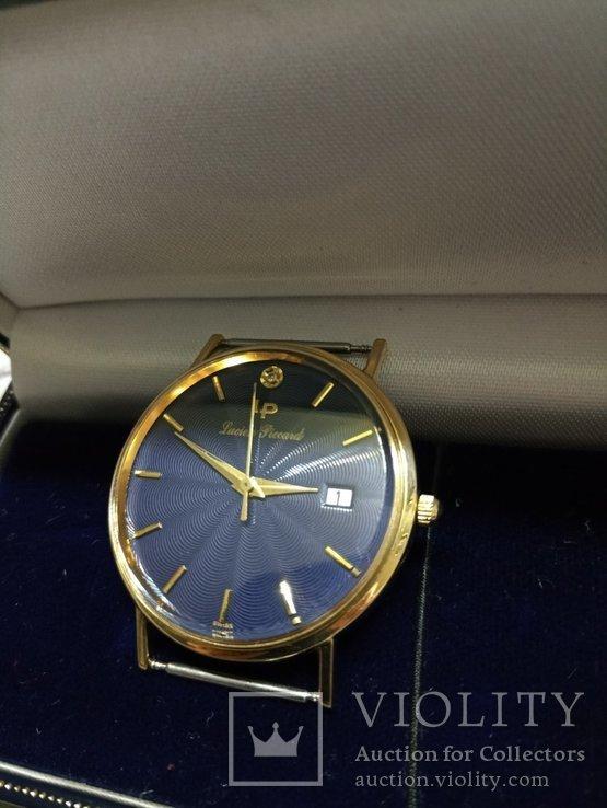 Швейцарские золотые часы Lucien piccard с бриллиантом, фото №9
