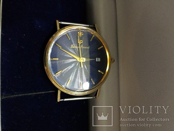 Швейцарские золотые часы Lucien piccard с бриллиантом, фото №11