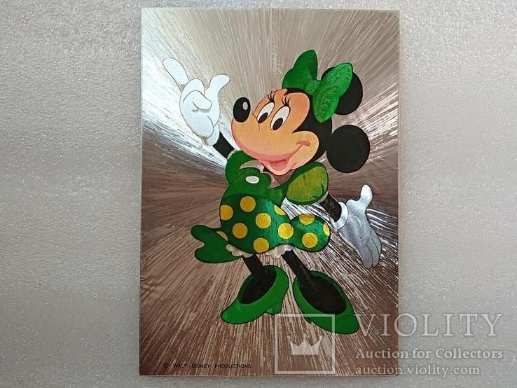 Уолт Дисней/Walt Disney Company. Минни Маус подружка Ми́кки Ма́уса.Необычная-фольга., фото №2