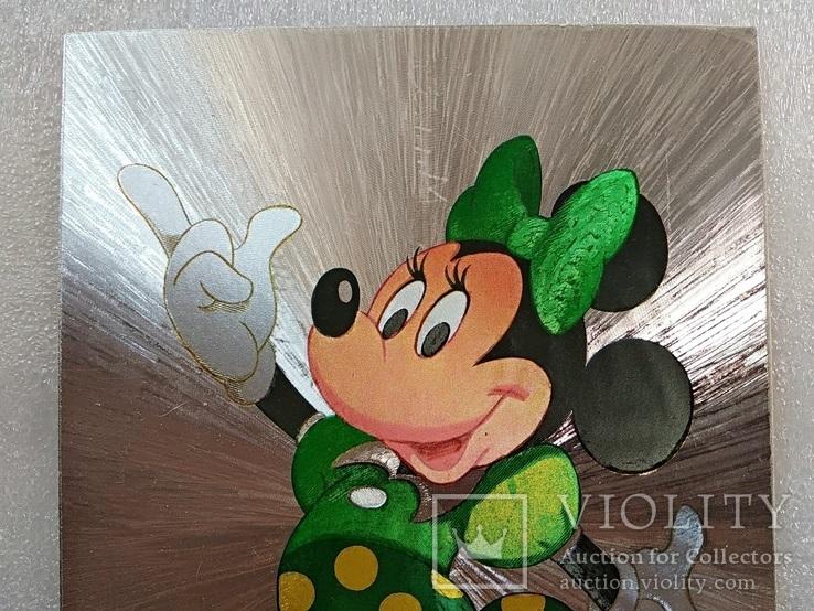 Уолт Дисней/Walt Disney Company. Минни Маус подружка Ми́кки Ма́уса.Необычная-фольга., фото №6