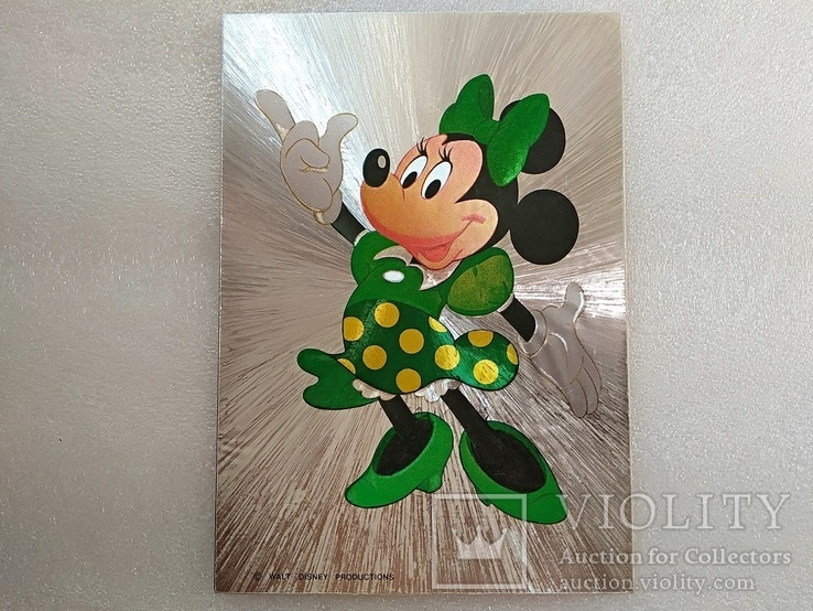 Уолт Дисней/Walt Disney Company. Минни Маус подружка Ми́кки Ма́уса.Необычная-фольга., фото №9