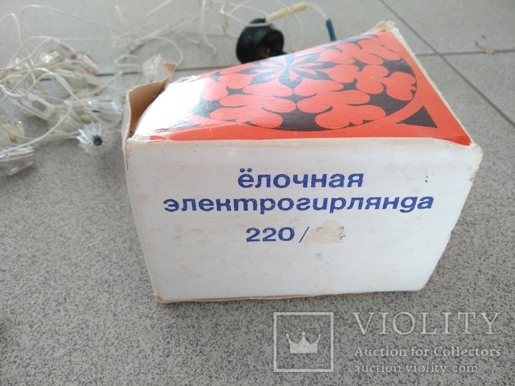Ёлочная электро гирлянда МЭЛЗ на мини ёлку с запасными стаканами, фото №5