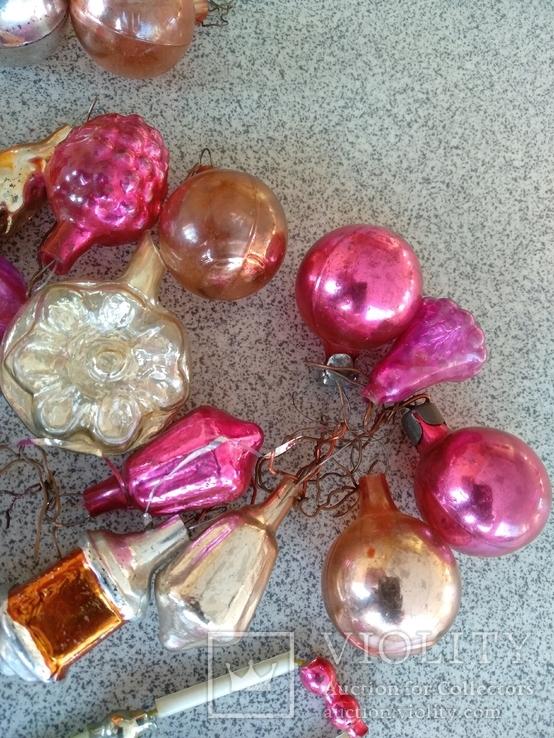 Мини ёлочные игрушки 39 шт, фото №3