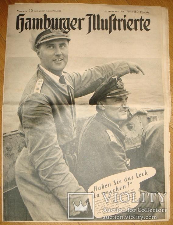 Гамбургская иллюстрация,11.1942г.Подвод. лодки,фото Муссолини,война в Африке и на Бл.Вост., фото №2