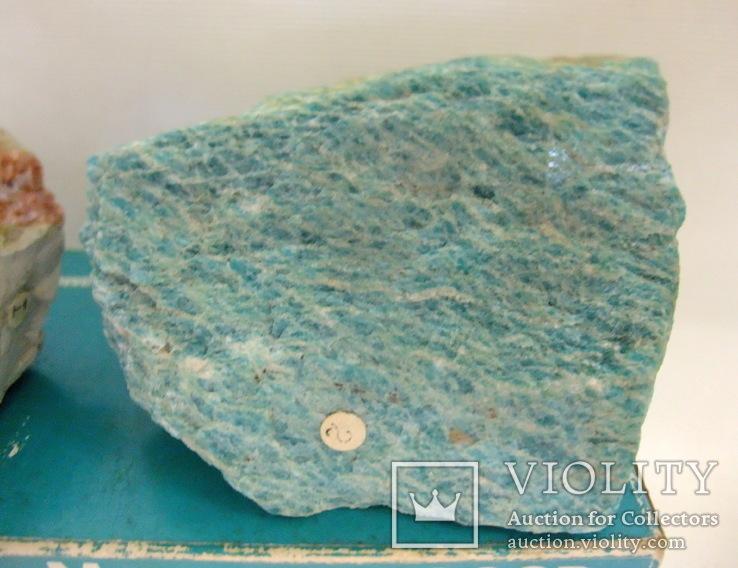 Целестин, амазонит. Сувенирные образцы минералов. Экспортсамоцветы СССР., фото №5