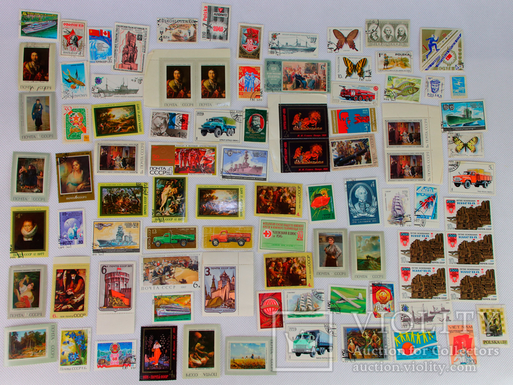 Почтовые марки одним лотом + спичечные этикетки СССР, фото №4