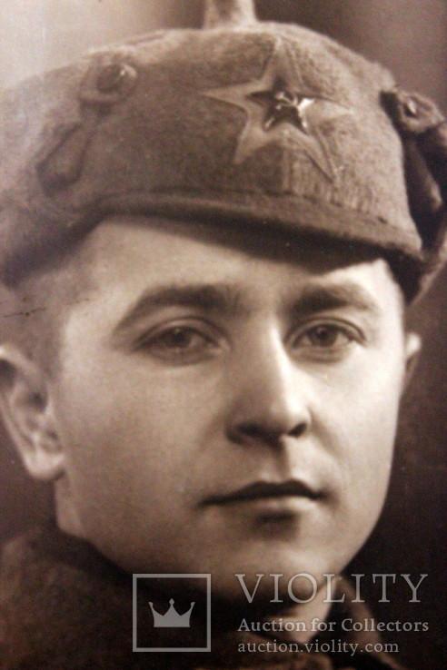 Фотография красноармейца-солдата в буденовке. 1943 год. ст. Чаплино, фото №5
