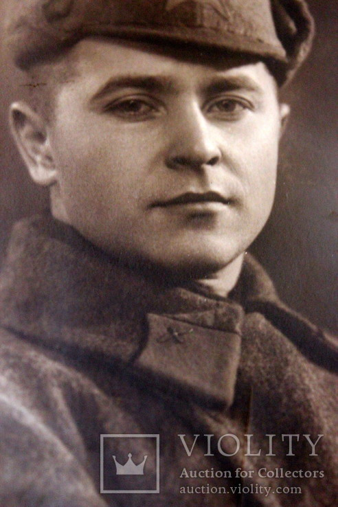 Фотография красноармейца-солдата в буденовке. 1943 год. ст. Чаплино, фото №6