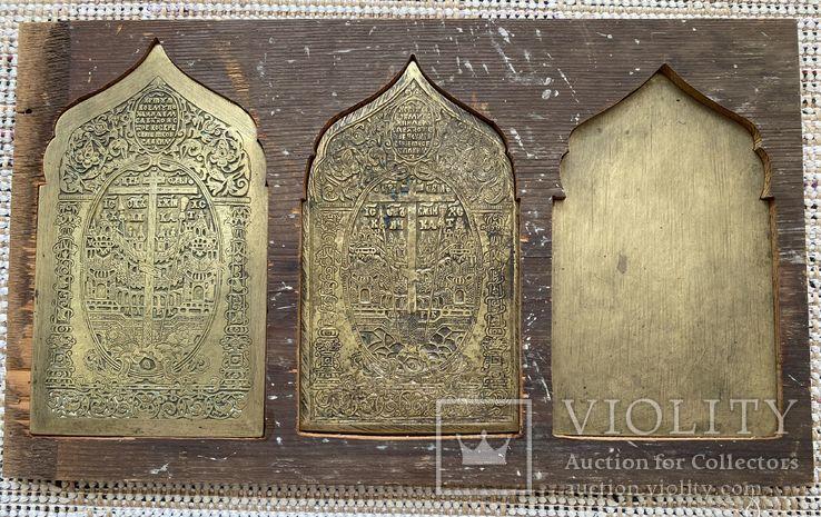 Иконы-пластика бронза в киоте, фото №12