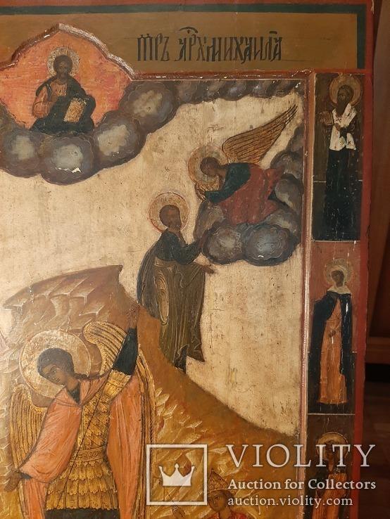 Икона Поклонение Архангелу Михаилу конец 17 начало 18 века, фото №10