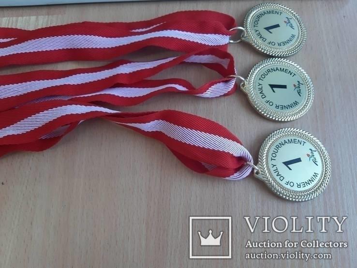 Спортивные медали, кол. 3 шт., фото №2
