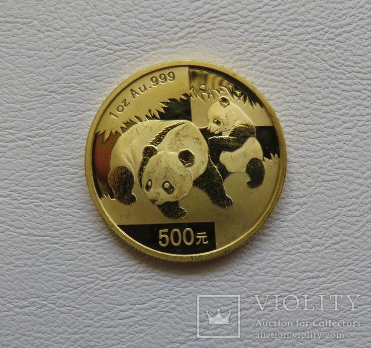 Китай 2008 год Панда 1 унция 31,1 грамм 999`