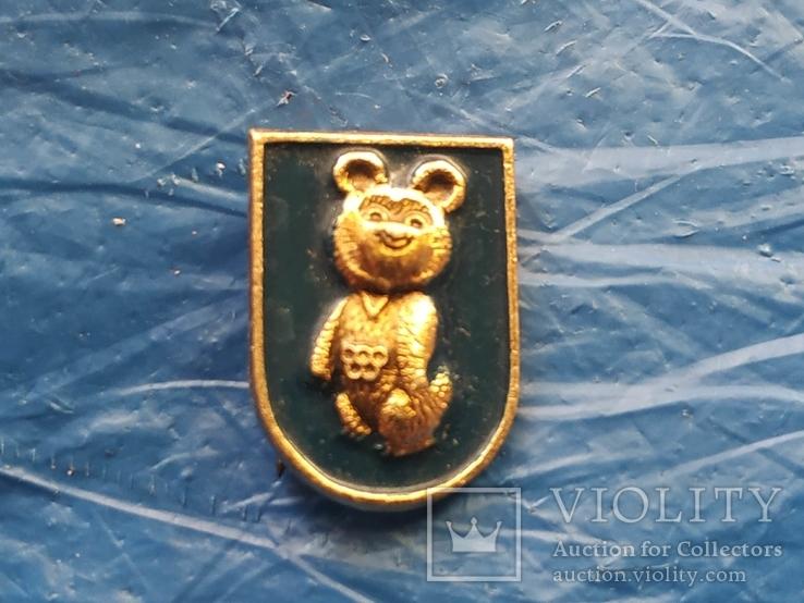 Значек СССР Олимпийский мишка, фото №2