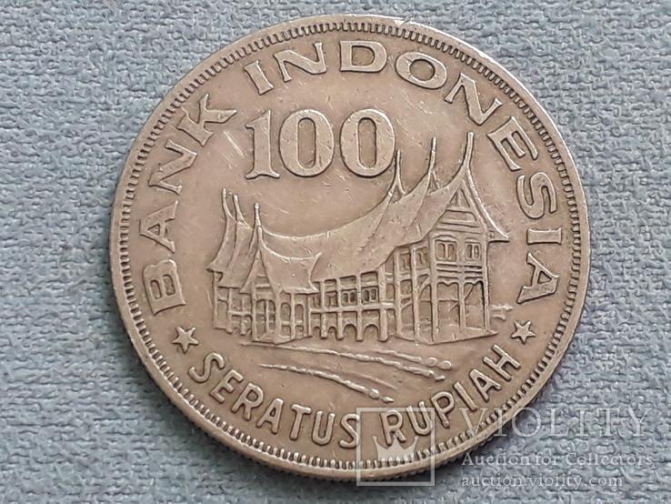 Индонезия 100 рупий 1978 года Лес для процветания, фото №2