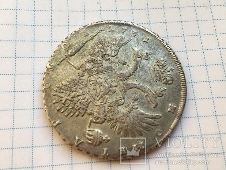 1 рубль 1731 года см. видеообзор, фото №3