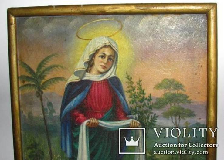 Икона на холсте Покров Пресвятой Богородицы, фото №3