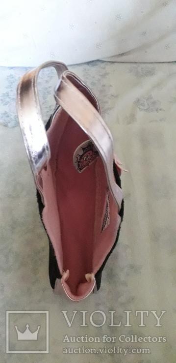 Детская сумка розовая с перламутровым блеском., фото №4