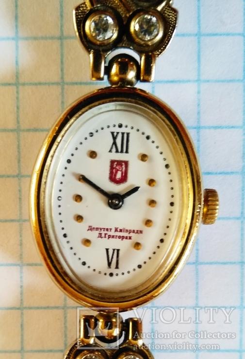 Часы механические женские от депутата киевсовета с дарственной подписью, фото №6