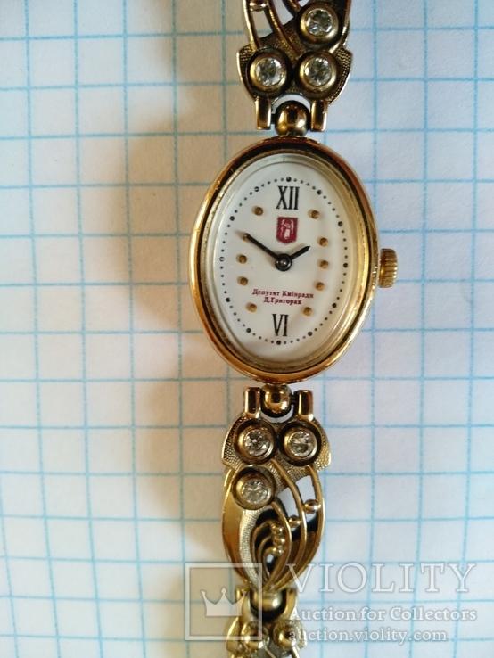 Часы механические женские от депутата киевсовета с дарственной подписью, фото №7