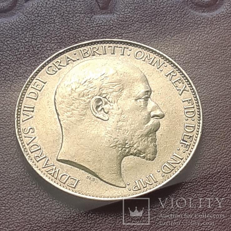 Золото  2 фунта соверена 1902 г, фото №4