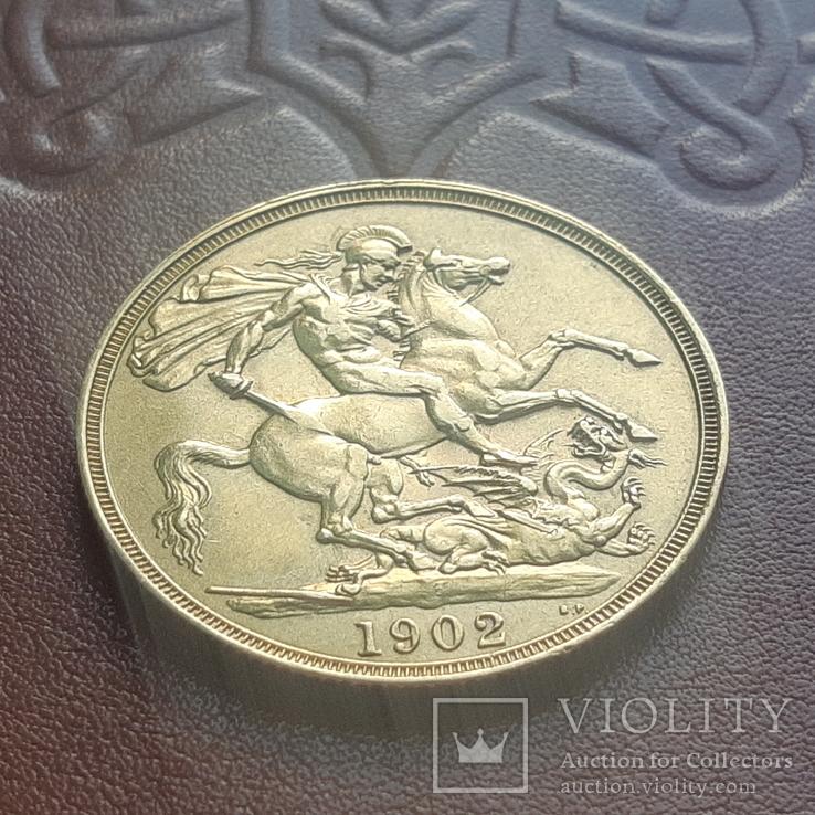 Золото  2 фунта соверена 1902 г, фото №8