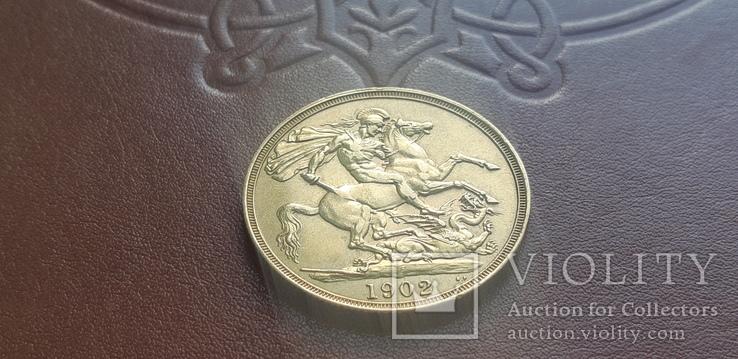 Золото  2 фунта соверена 1902 г, фото №12