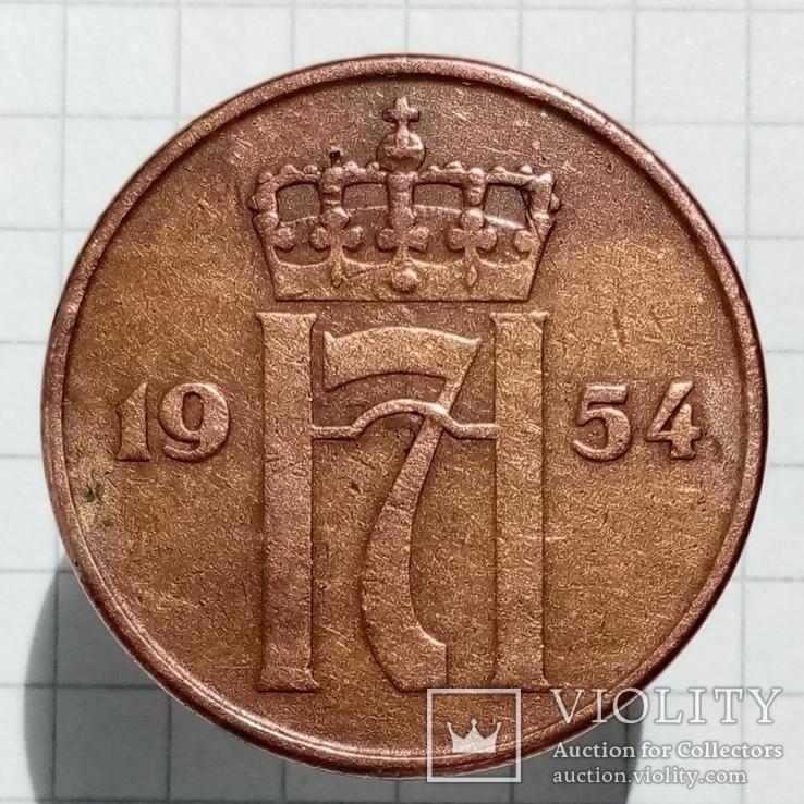 5 эре 1954г Норвегия, фото №2