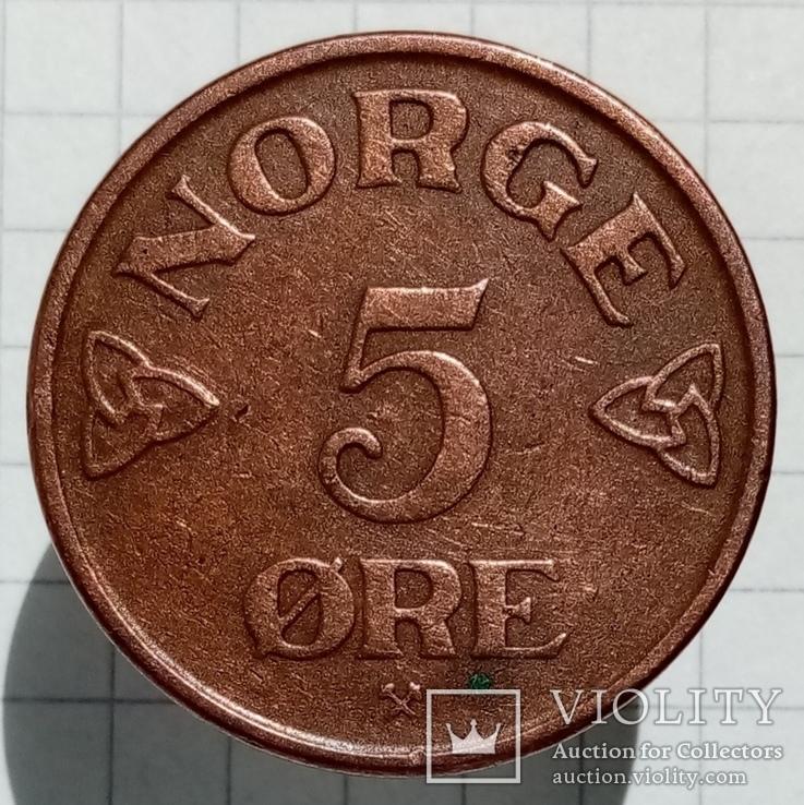 5 эре 1954г Норвегия, фото №3