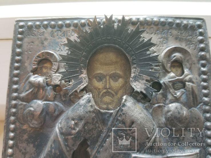 Серебряная икона Николая 1779 года, фото №3