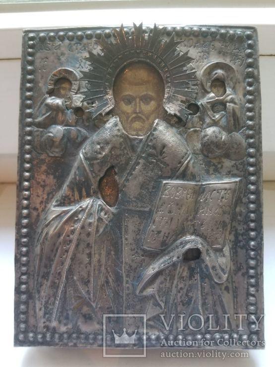 Серебряная икона Николая 1779 года, фото №2