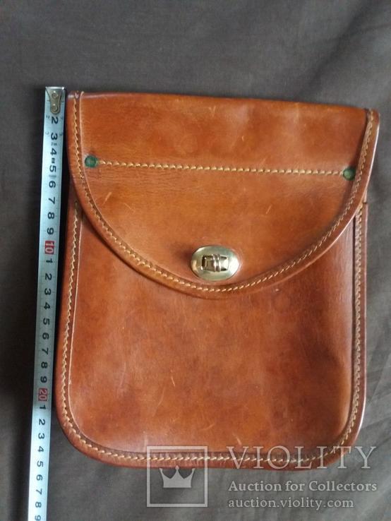 Старая кожаная сумка, фото №2