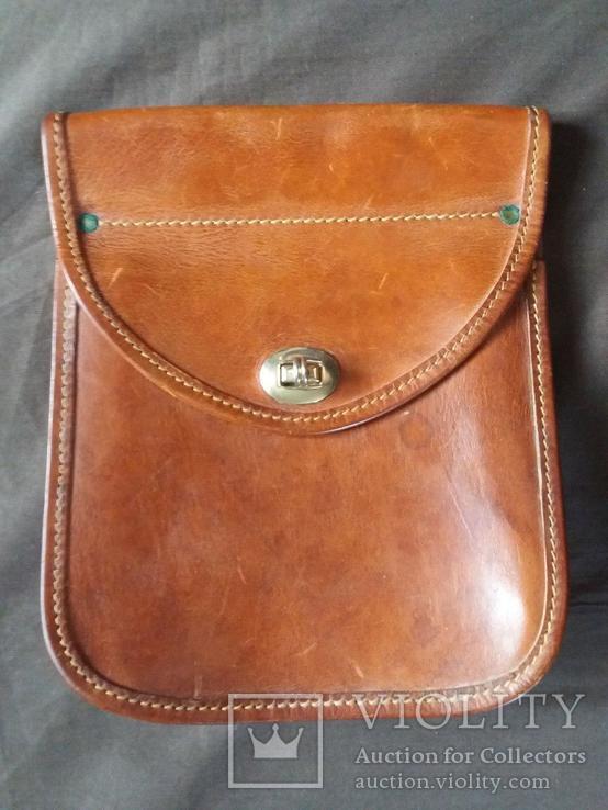 Старая кожаная сумка, фото №3