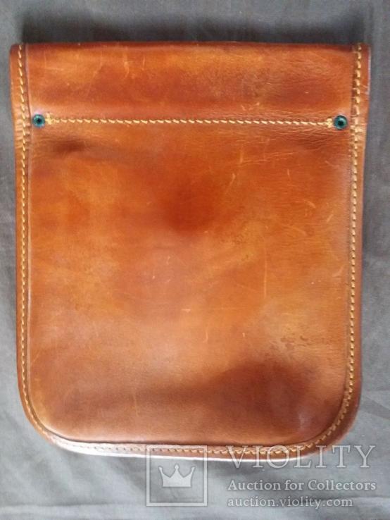 Старая кожаная сумка, фото №4
