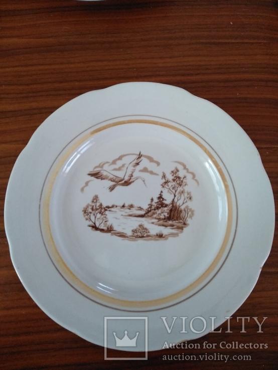Тарелка пейзаж лебедь Барановка  2 шт, фото №5