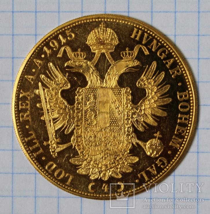 4 дуката(ducat) 1915 Австро-Венгрия, фото №4