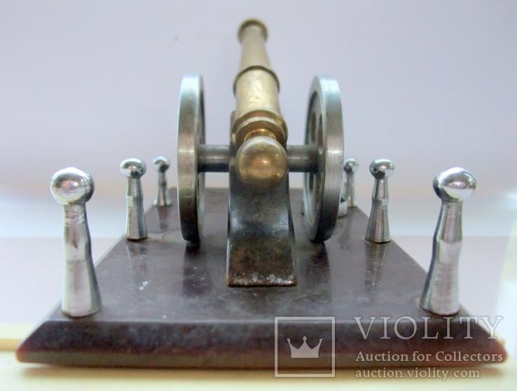 Пушка с ядрами. Кабинетный настольный сувенир ручная работа., фото №13