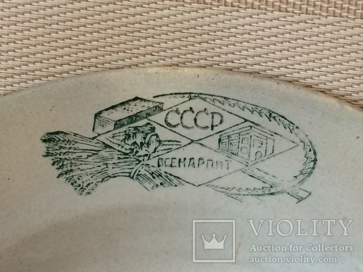Агитационная тарелка ,, всенарпит '' - 20 х годов, фото №3