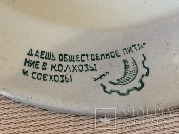 Агитационная тарелка ,, всенарпит '' - 20 х годов, фото №4