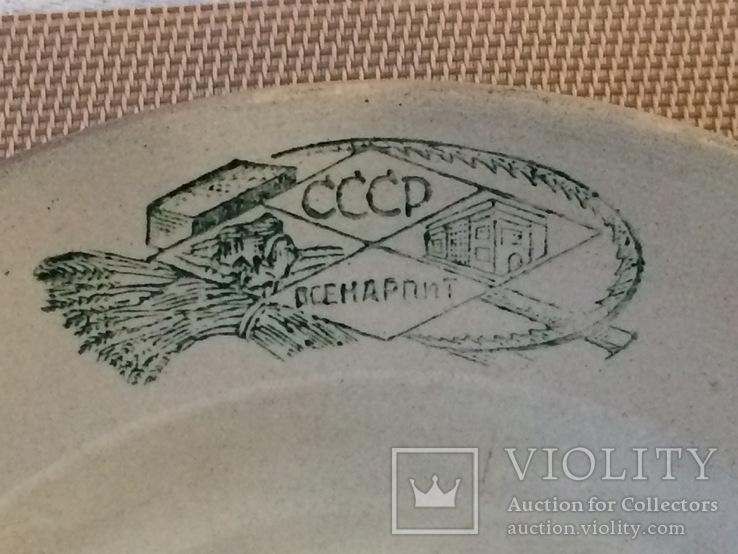 Агитационная тарелка ,, всенарпит '' - 20 х годов, фото №9