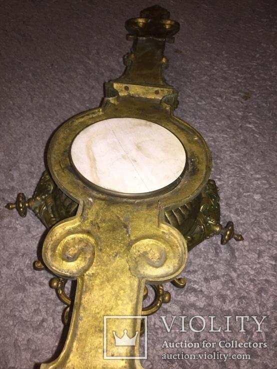 Бронзовые настенные часы «Грифоны», фото №11