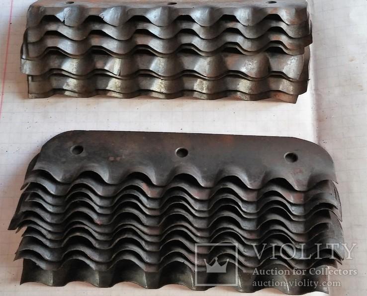 Ножи новые калёные для корморезки, из СССР, 19 штук., фото №8