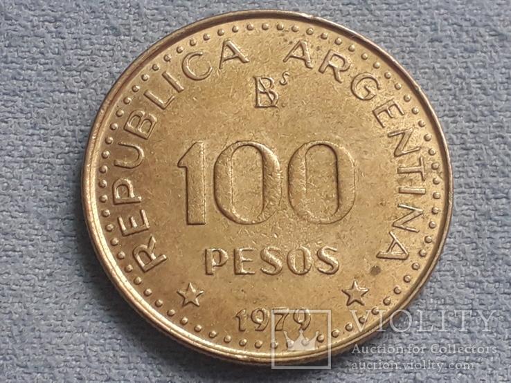 Аргентина 100 песо 1979 года, фото №2