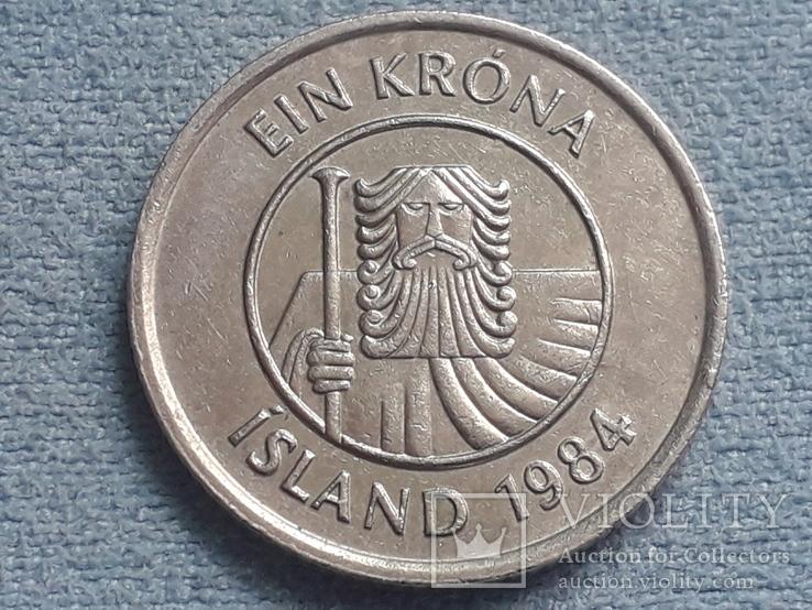 Исландия 1 крона 1984 года, фото №3