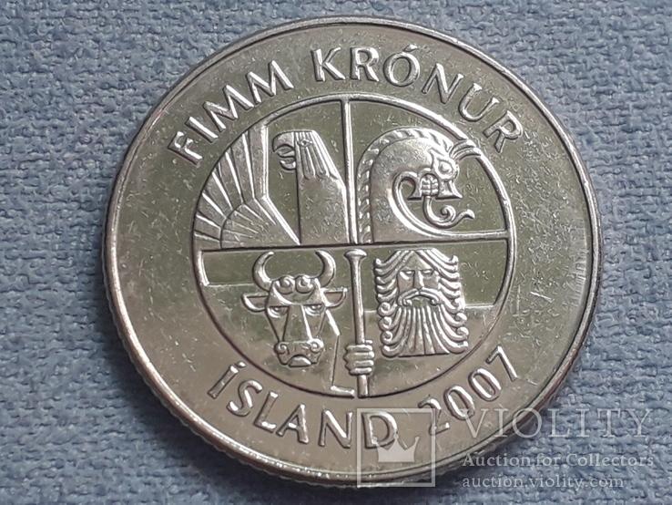 Исландия 5 крон 2007 года, фото №3