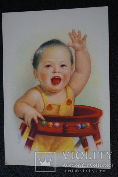 """Открытка.""""Китай Ли Му-бай"""".(Резвый мальчик 2).Китай., фото №2"""