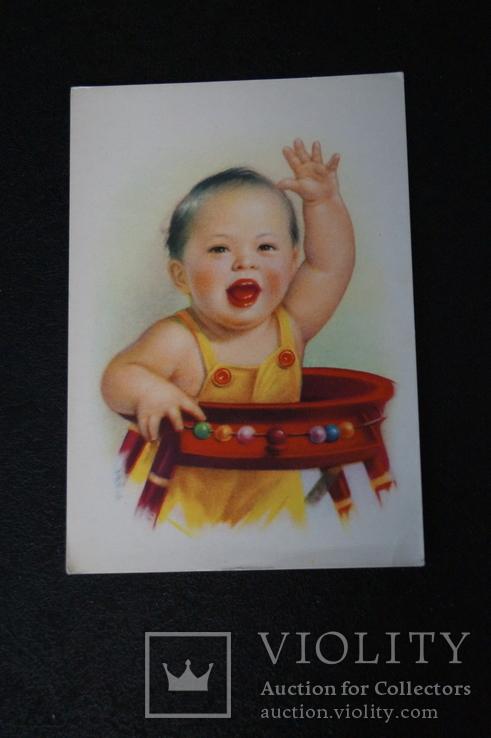 """Открытка.""""Китай Ли Му-бай"""".(Резвый мальчик 2).Китай., фото №6"""