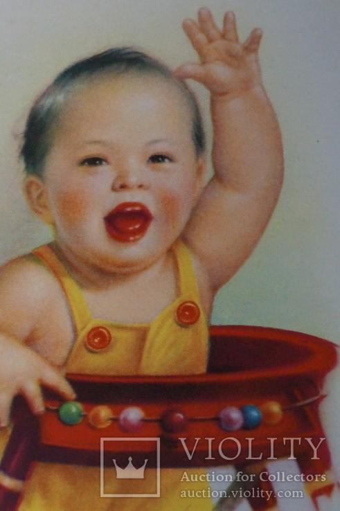 """Открытка.""""Китай Ли Му-бай"""".(Резвый мальчик 2).Китай., фото №7"""