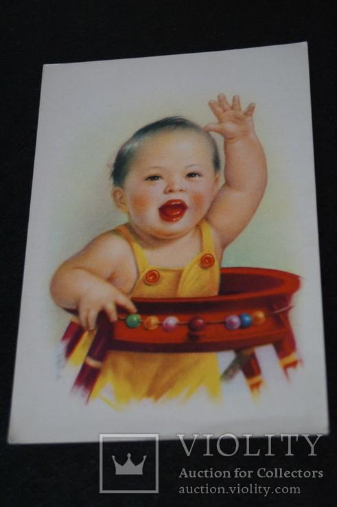 """Открытка.""""Китай Ли Му-бай"""".(Резвый мальчик 2).Китай., фото №8"""